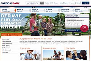 Targobank Webseite